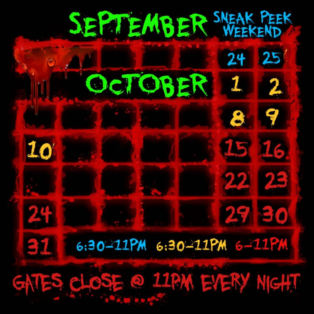 Field of Horrors Hours Troy New York